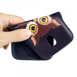 Relief Silicone Case for Samsung Galaxy J5 2017 / J530 Owl Pattern Soft TPU Back Cover Europe Version -