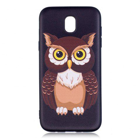 Cheap Relief Silicone Case for Samsung Galaxy J5 2017 / J530 Owl Pattern Soft TPU Back Cover Europe Version