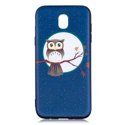 Relief Silicone Case for Samsung Galaxy J5 2017 / J530 Moon and Owl Pattern Soft TPU Back Cover Europe Version -
