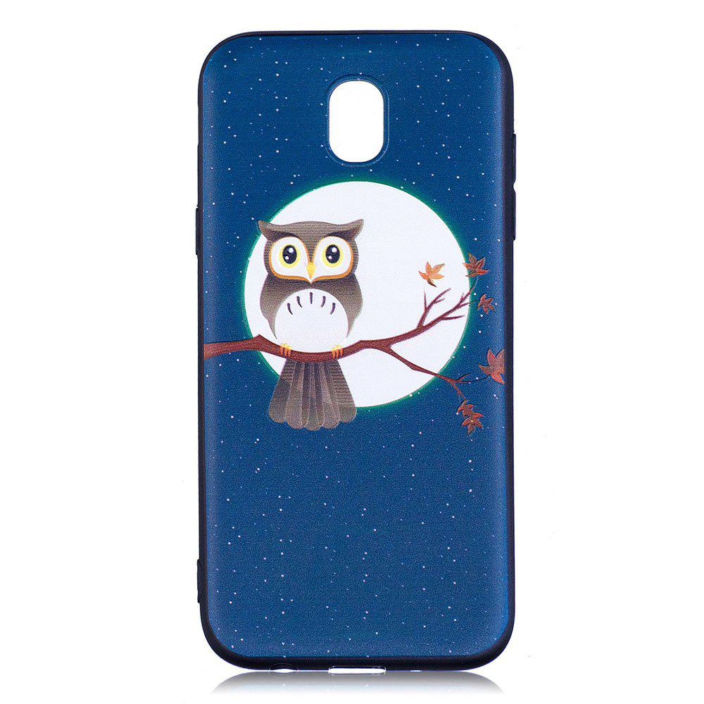 Unique Relief Silicone Case for Samsung Galaxy J5 2017 / J530 Moon and Owl Pattern Soft TPU Back Cover Europe Version