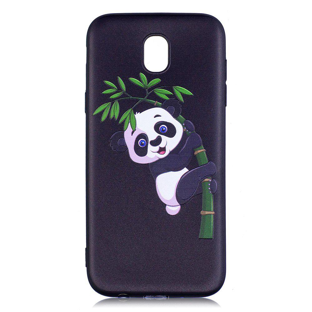 Outfits Relief Silicone Case for Samsung Galaxy J5 2017 / J530 Bamboo Panda Pattern Soft TPU Back Cover Europe Version