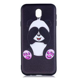 Relief Silicone Case for Samsung Galaxy J7 2017 / J730 Panda Pattern Soft TPU Back Cover Europe Version -