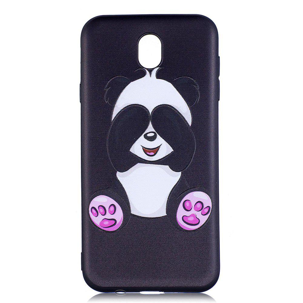 Latest Relief Silicone Case for Samsung Galaxy J7 2017 / J730 Panda Pattern Soft TPU Back Cover Europe Version