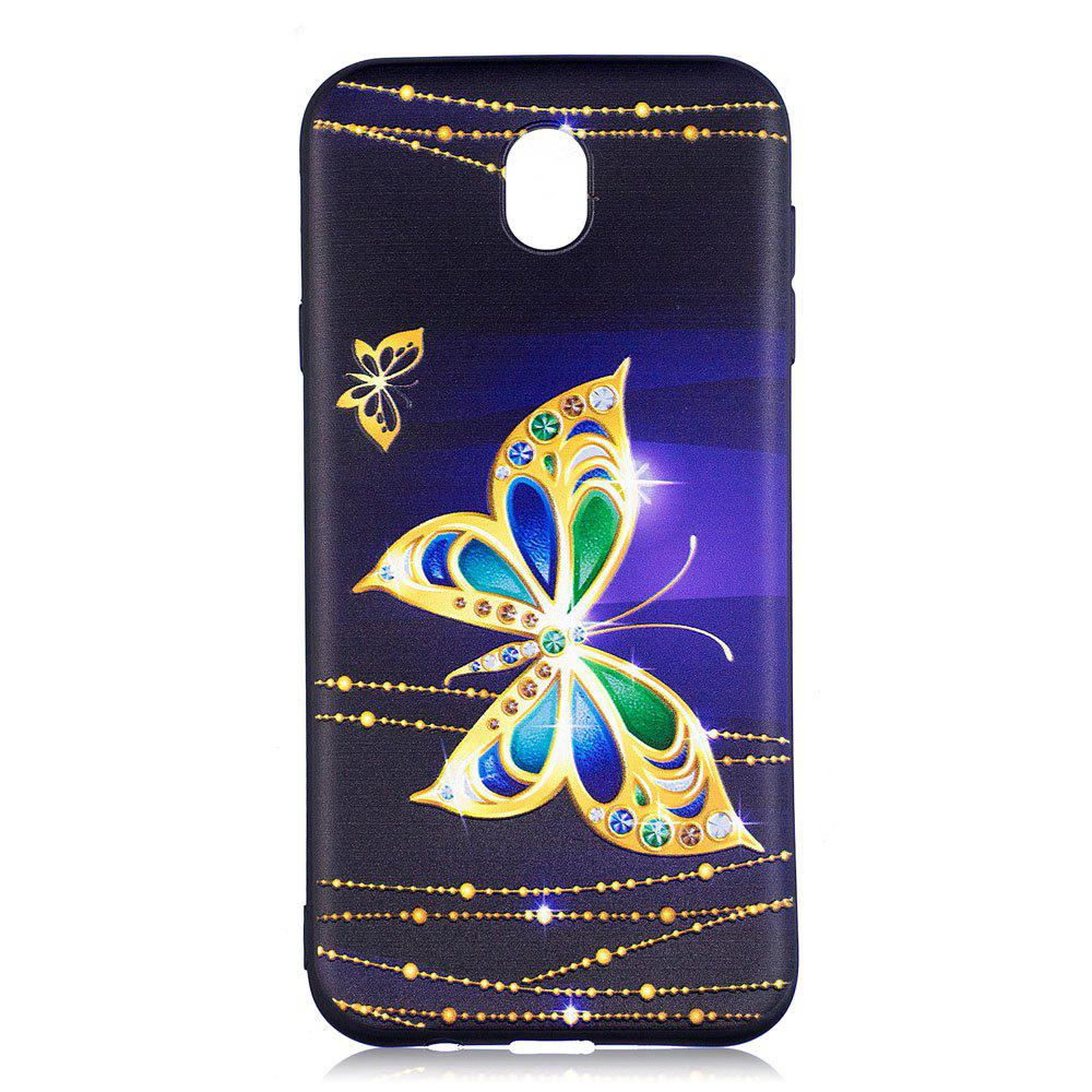 Chic Relief Silicone Case for Samsung Galaxy J7 2017 / J730 Large Butterfly Pattern Soft TPU Back Cover Europe Version