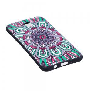 Relief Silicone Case for Samsung Galaxy J7 2017 / J730 Mandala Pattern Soft TPU Back Cover Europe Version -