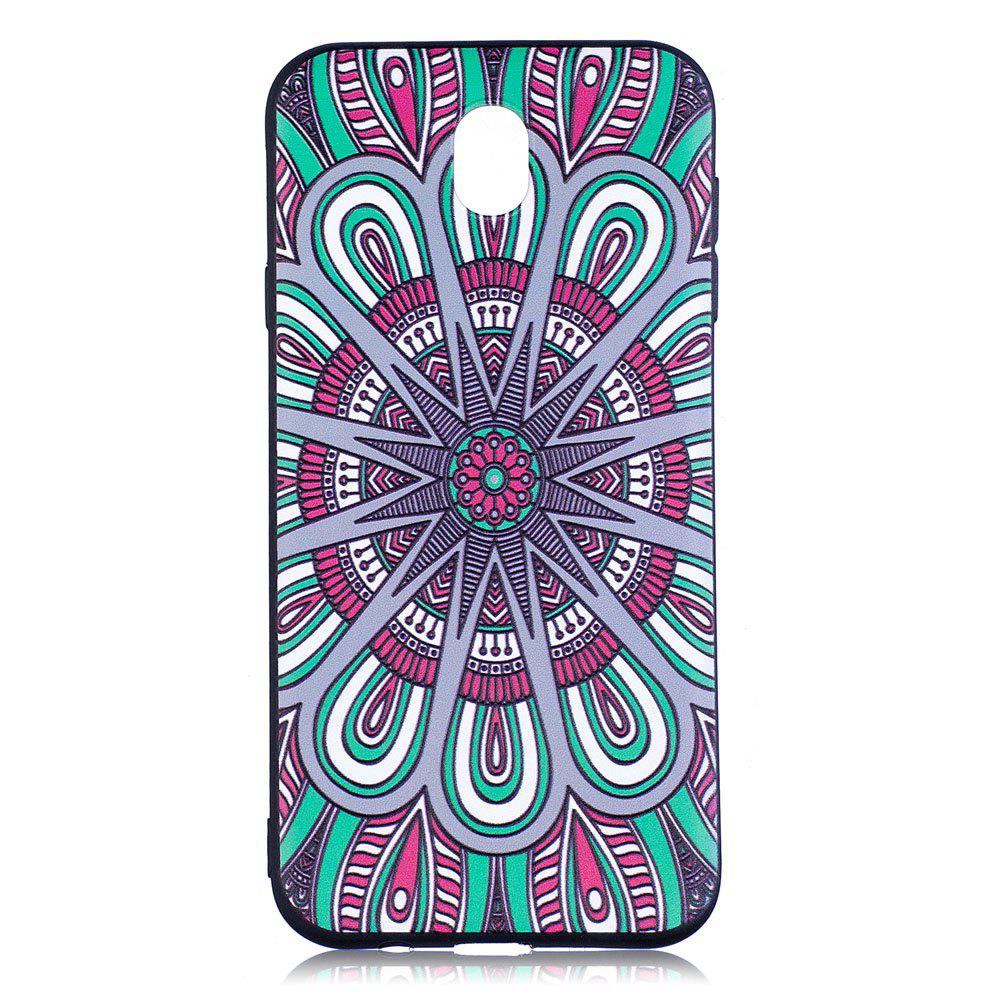 Cheap Relief Silicone Case for Samsung Galaxy J7 2017 / J730 Mandala Pattern Soft TPU Back Cover Europe Version
