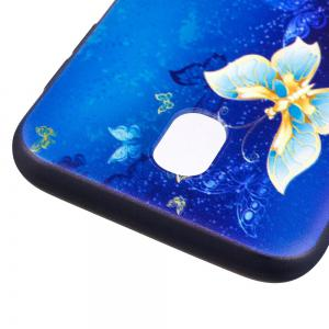 Relief Silicone Case for Samsung Galaxy J7 2017 / J730 Butterfly Pattern Soft TPU Back Cover Europe Version -