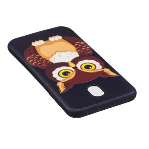 Relief Silicone Case for Samsung Galaxy J7 2017 / J730 Owl Pattern Soft TPU Back Cover Europe Version -