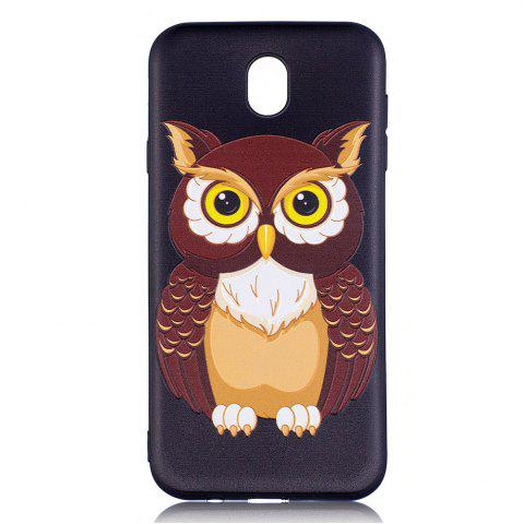 Unique Relief Silicone Case for Samsung Galaxy J7 2017 / J730 Owl Pattern Soft TPU Back Cover Europe Version