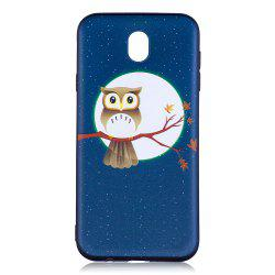Relief Silicone Case for Samsung Galaxy J7 2017 / J730 Moon and Owl Pattern Soft TPU Back Cover Europe Version -