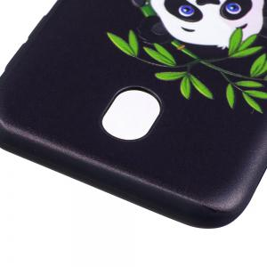 Relief Silicone Case for Samsung Galaxy J7 2017 / J730 Bamboo Panda Pattern Soft TPU Back Cover Europe Version -
