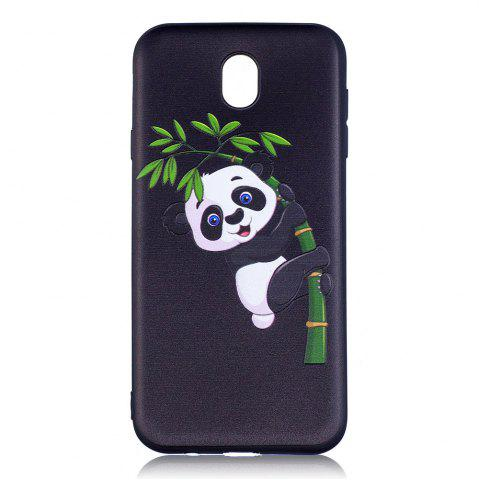 New Relief Silicone Case for Samsung Galaxy J7 2017 / J730 Bamboo Panda Pattern Soft TPU Back Cover Europe Version