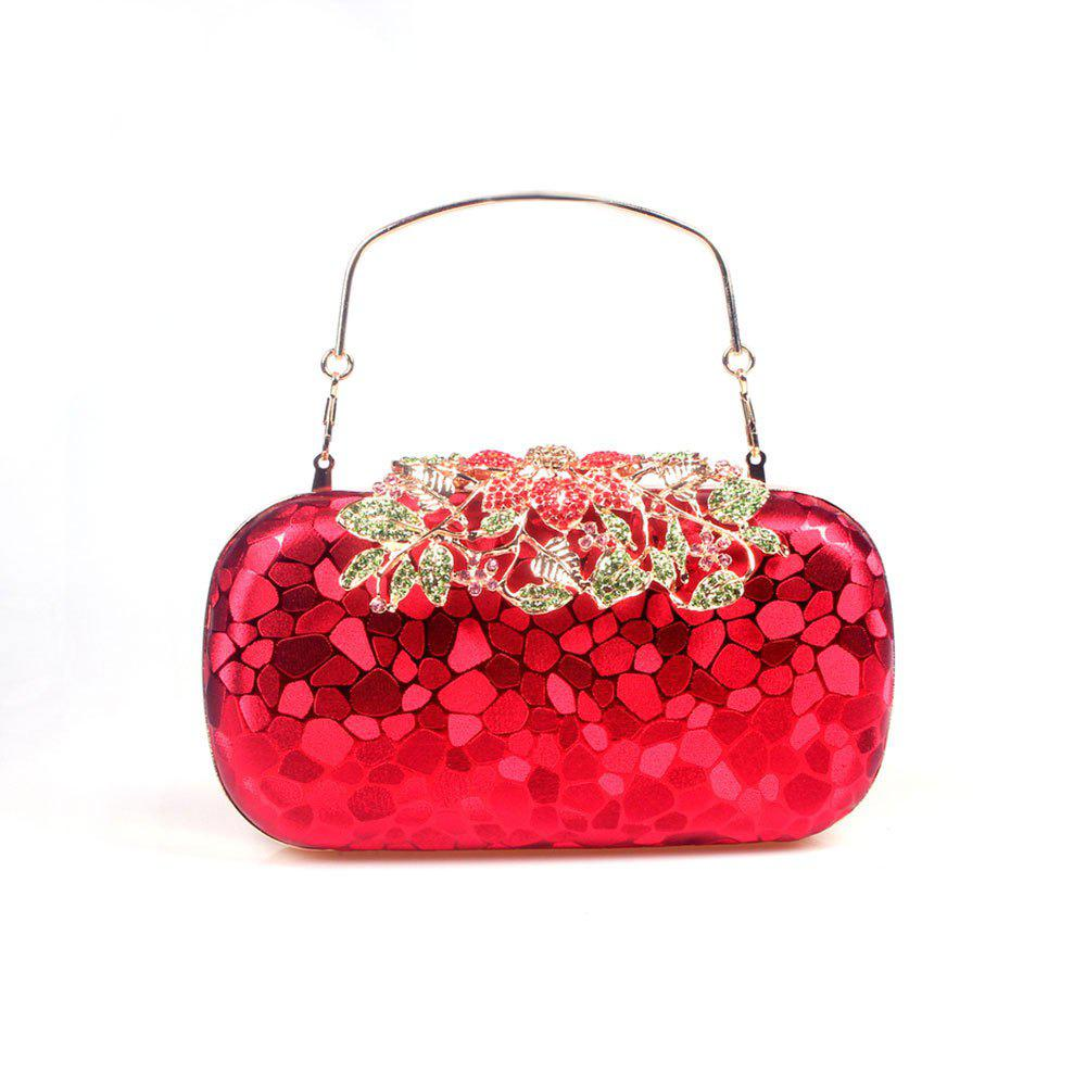 Chic Women PU Evening Bag Crystal Rhinestone Wedding Event Party Formal