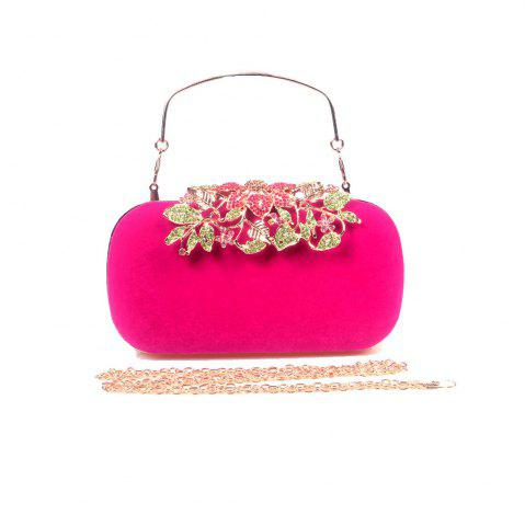 Buy Women Bags Velvet Clutch Crystal Detailing Wedding Event Party