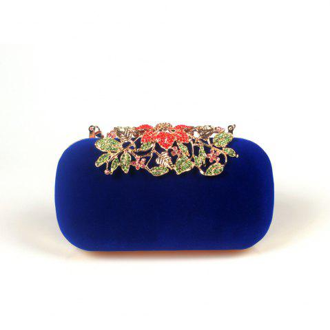 Fashion Women Bags Velvet Clutch Crystal Detailing Wedding Event Party