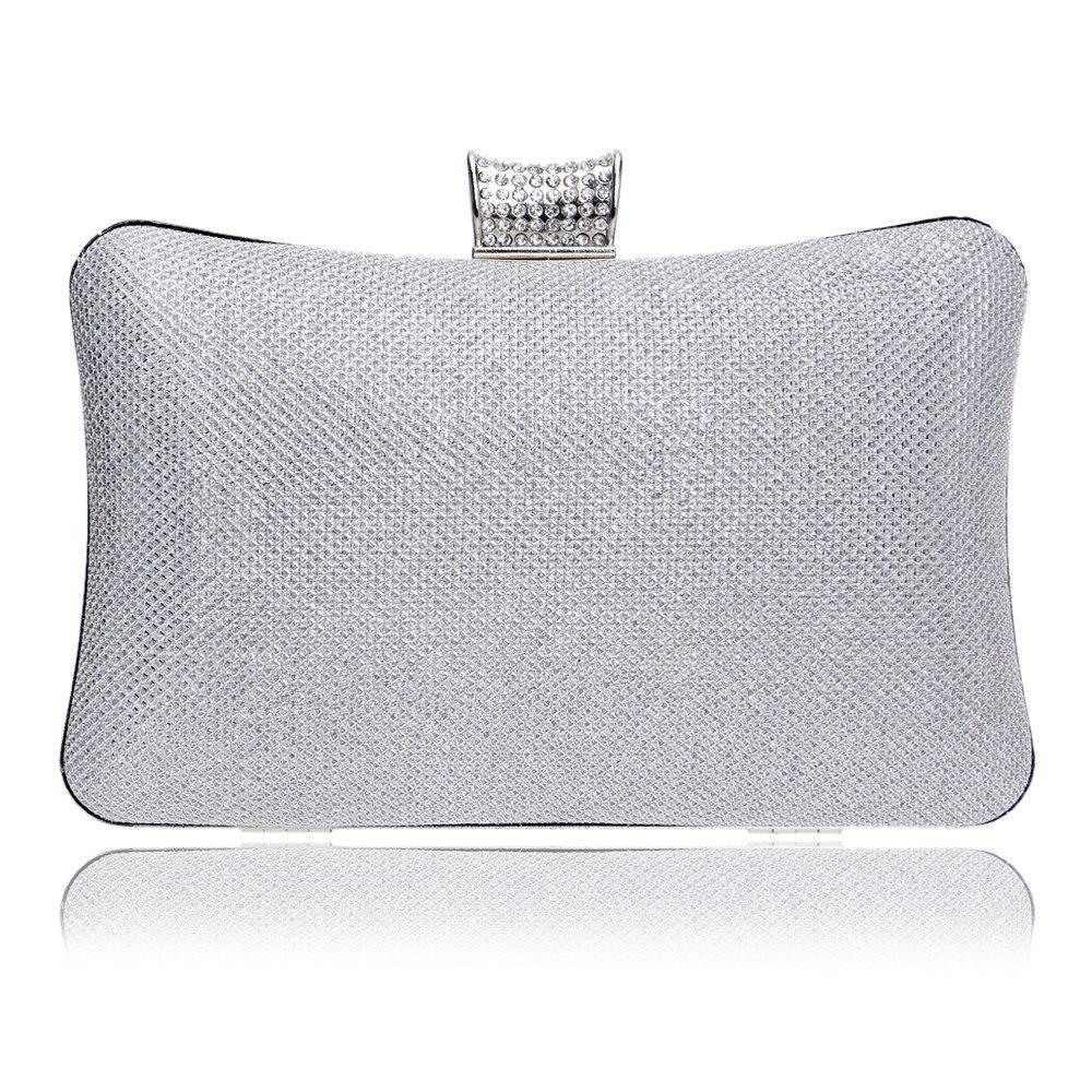 Unique Women PU Bags Leatherette Evening Bag Buttons Crystal Detailing Wedding Event Party