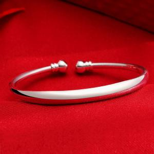 Fashion Circle Smooth Alloy Bangle Opening Bracelet Charm Jewelry -