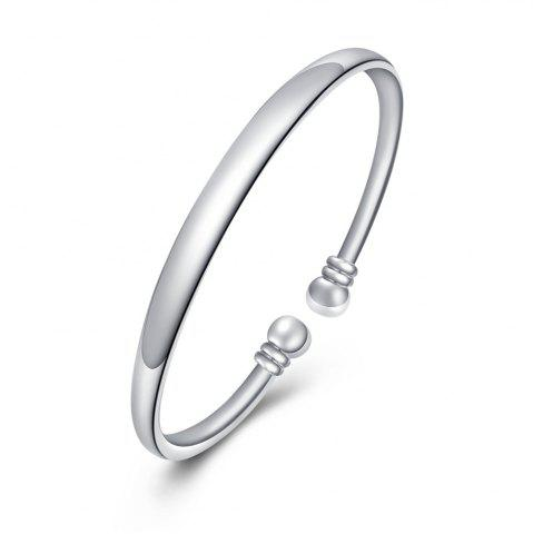 Latest Fashion Circle Smooth Alloy Bangle Opening Bracelet Charm Jewelry