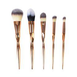 5PCS Gold Make Up Brushes Suit -
