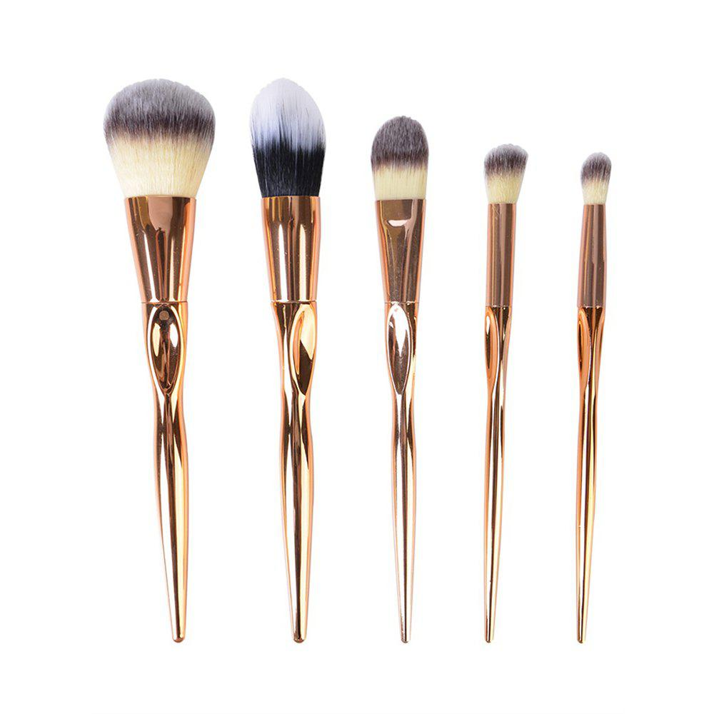5PCS Gold Make Up Brushes Suit