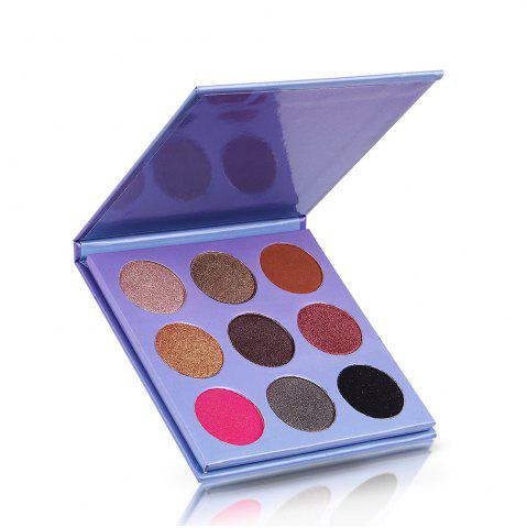 Best 9 Colors Glitter Purple Eyeshadow Dish