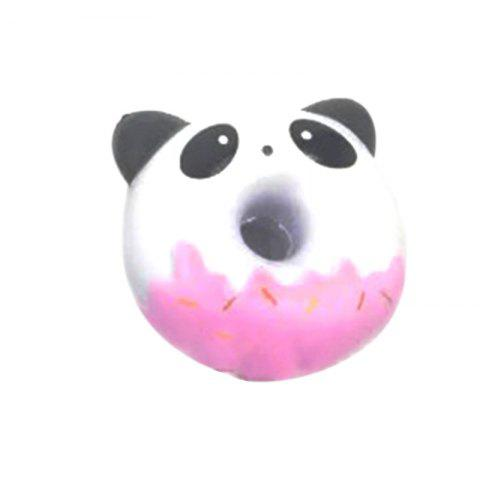 Outfit Jumbo Squishy PU Slow Rising Stress Relief Toy Replica Cartoon Panda Smiling Face Doughnut for Adults