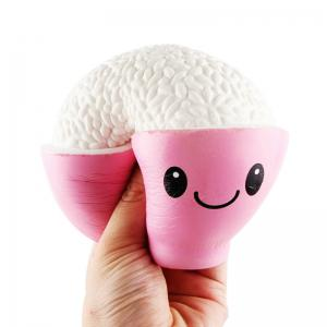 Jumbo Squishy PU Slow Rising Stress Relief Toy Replica A Bowl of Rice for Adults -
