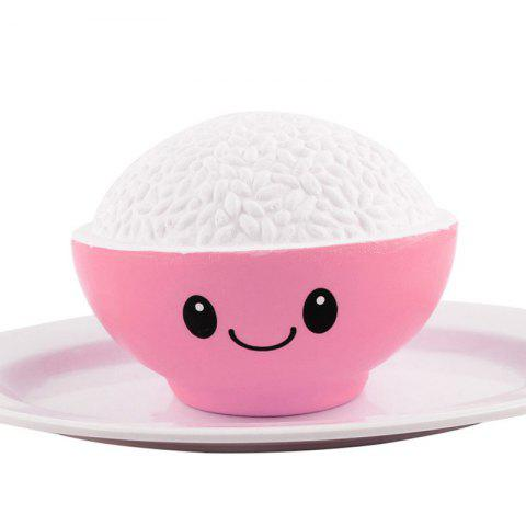 Sale Jumbo Squishy PU Slow Rising Stress Relief Toy Replica A Bowl of Rice for Adults