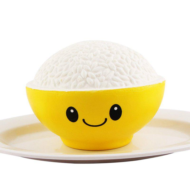 Online Jumbo Squishy PU Slow Rising Stress Relief Toy Replica A Bowl of Rice for Adults