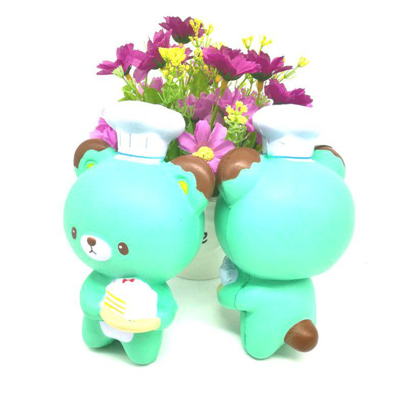 Unique Jumbo Squishy PU Slow Rising Stress Relief Toy Replica Cartoon Chef Bear for Adults 1PC