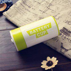 Creative Battery Shape Insulation Stainless Steel Cup -
