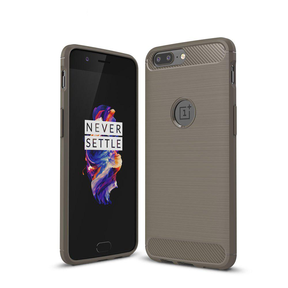 Корпус для OnePlus 5 Luxury Carbon Fiber Anti Drop TPU Мягкая обложка
