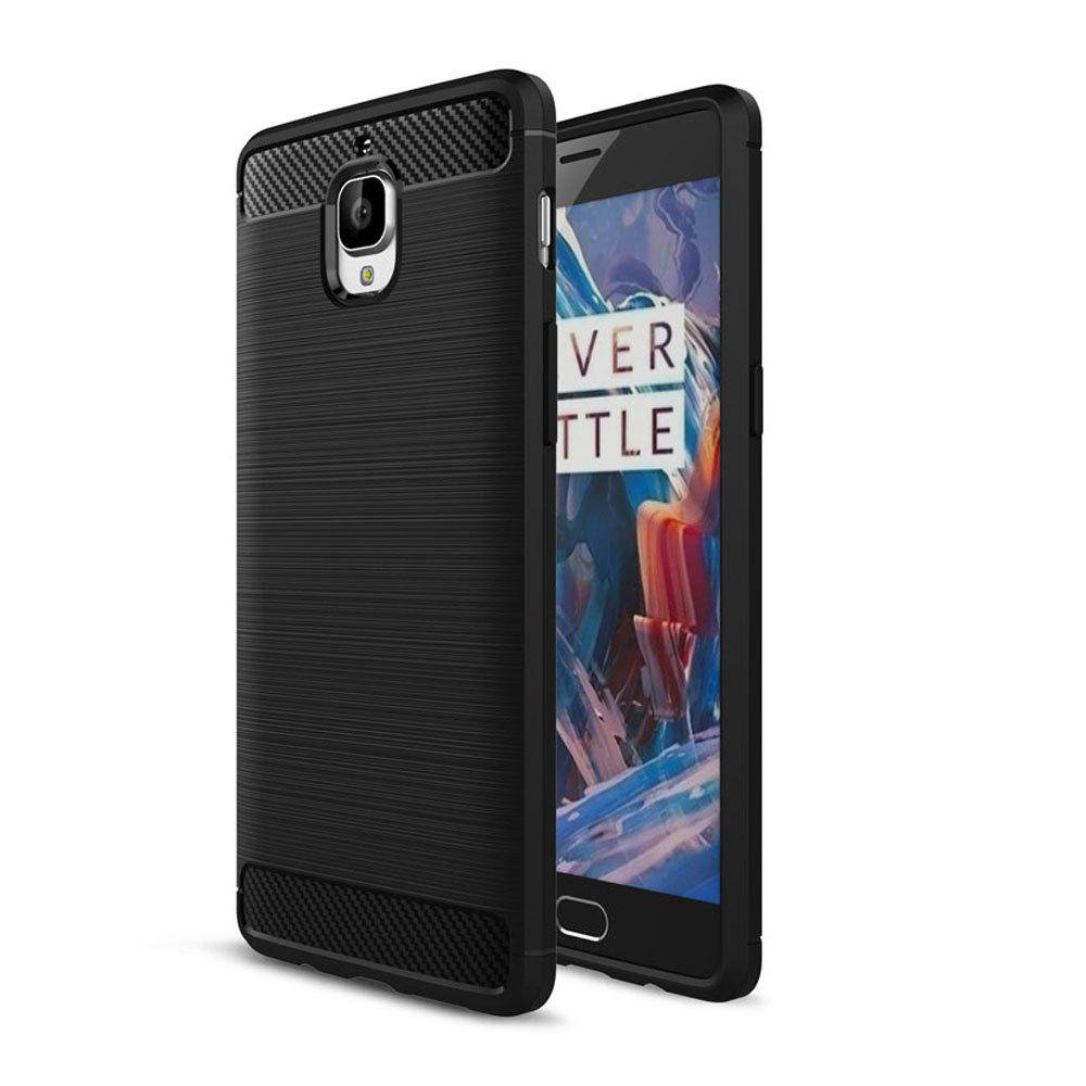 Trendy Case for OnePlus 3 / 3T Luxury Carbon Fiber Anti Drop TPU Soft Cover