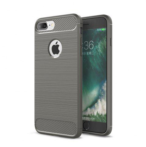 Trendy Case for iPhone 8 Plus Luxury Carbon Fiber Anti Drop TPU Soft Cover