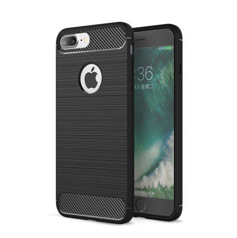 Fashion Case for iPhone 8 Plus Luxury Carbon Fiber Anti Drop TPU Soft Cover