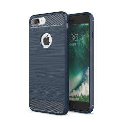 Case pour iPhone 8 Plus De Luxe En Fiber De Carbone Anti Drop Drop TPU Couverture Souple -