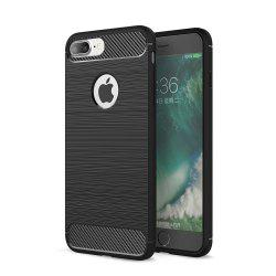 Case for iPhone 8 Plus Luxury Carbon Fiber Anti Drop TPU Soft Cover -