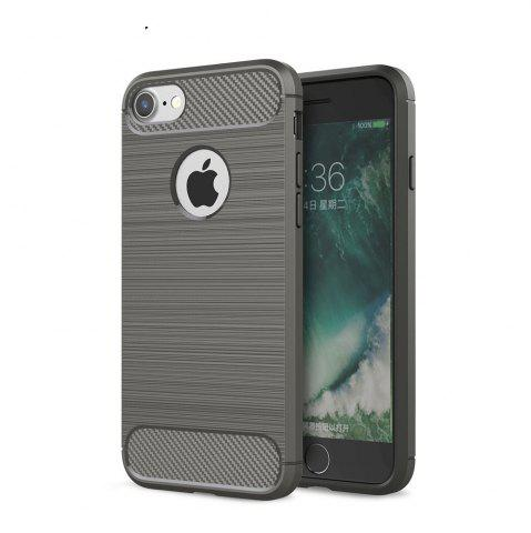 Outfits Case for iPhone 8 Luxury Carbon Fiber Anti Drop TPU Soft Cover