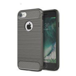 Case for iPhone 8 Luxury Carbon Fiber Anti Drop TPU Soft Cover -