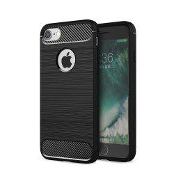 Case for iPhone 7 Luxury Carbon Fiber Anti Drop TPU Soft Cover -