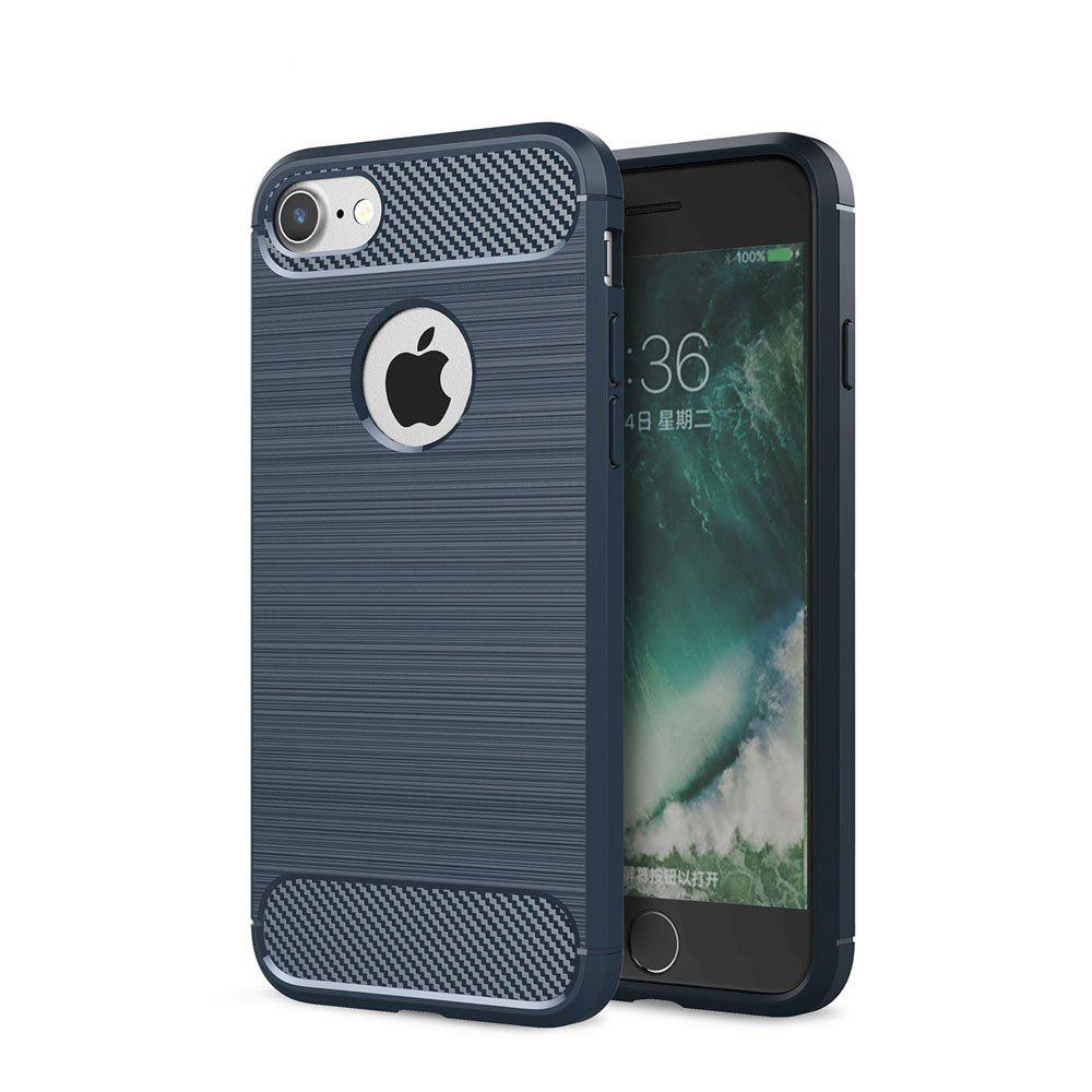 Chic Case for iPhone 7 Luxury Carbon Fiber Anti Drop TPU Soft Cover