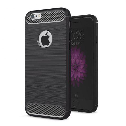Online Case for iPhone 6 / 6S Luxury Carbon Fiber Anti Drop TPU Soft Cover