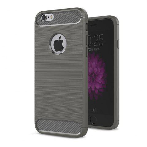Sale Case for iPhone 6 / 6S Luxury Carbon Fiber Anti Drop TPU Soft Cover