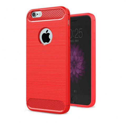 Buy Case for iPhone 6 / 6S Luxury Carbon Fiber Anti Drop TPU Soft Cover