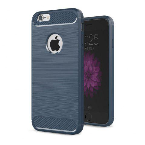 Discount Case for iPhone 6 Plus / 6S Plus Luxury Carbon Fiber Anti Drop TPU Soft Cover