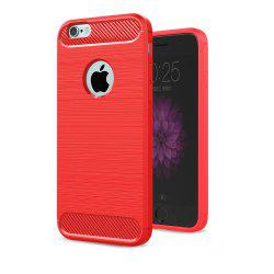 Case for iPhone 6 Plus / 6S Plus Luxury Carbon Fiber Anti Drop TPU Soft Cover -