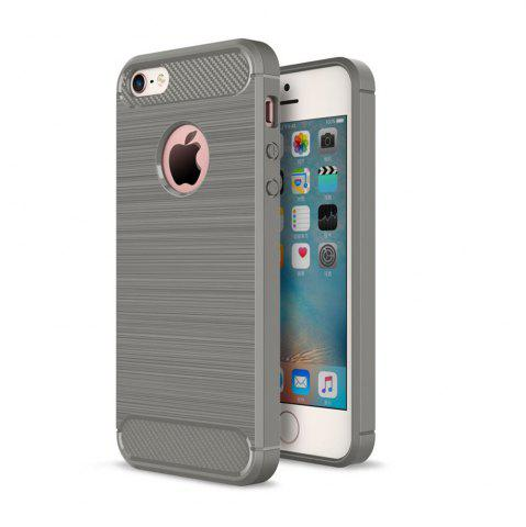 Trendy Case for iPhone 5 / 5S / SE Luxury Carbon Fiber Anti Drop TPU Soft Cover