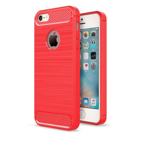 Discount Case for iPhone 5 / 5S / SE Luxury Carbon Fiber Anti Drop TPU Soft Cover