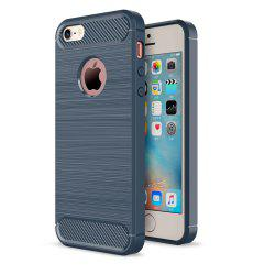 Case for iPhone 5 / 5S / SE Luxury Carbon Fiber Anti Drop TPU Soft Cover -