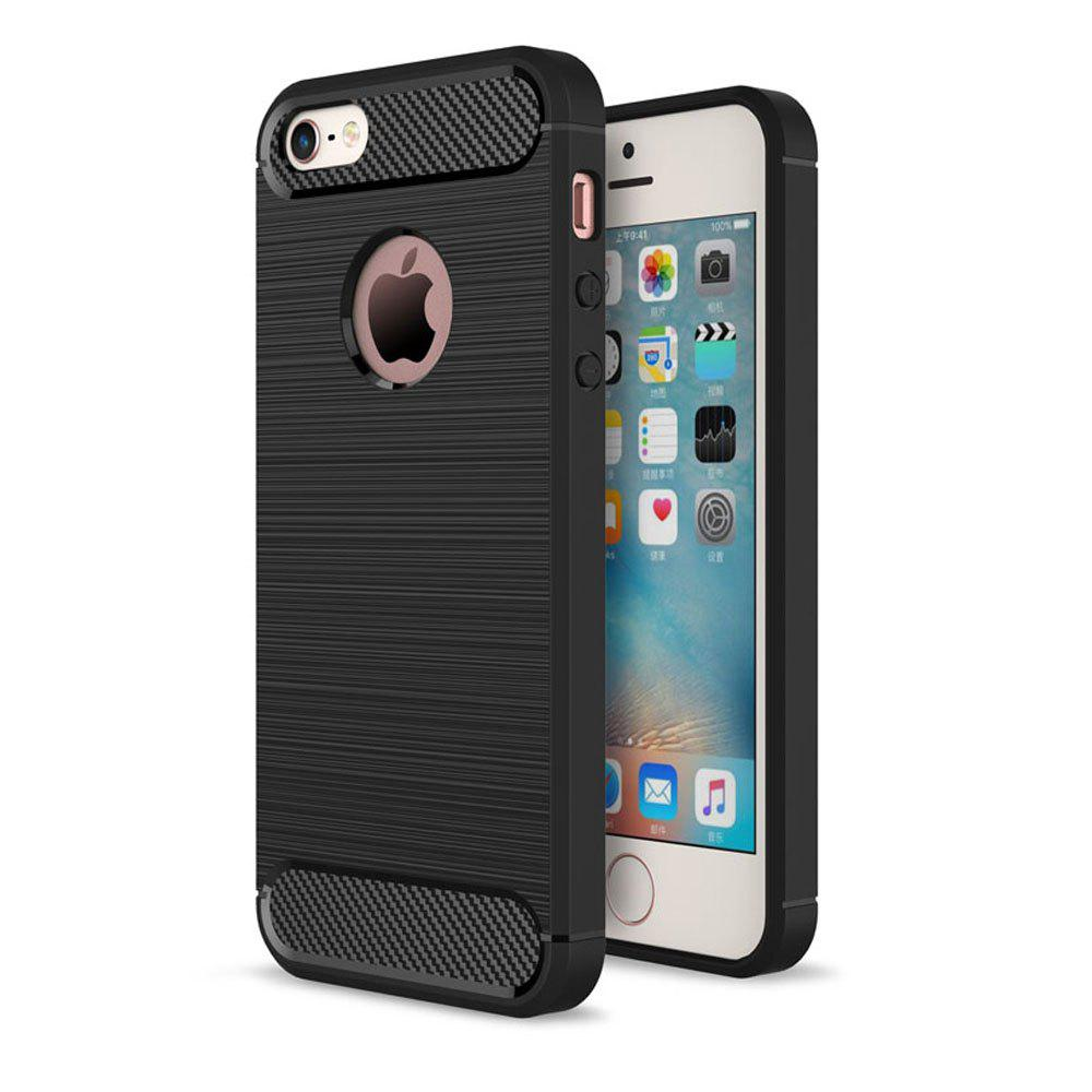 Affordable Case for iPhone 5 / 5S / SE Luxury Carbon Fiber Anti Drop TPU Soft Cover